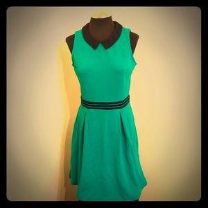 Elle - Kelly Green Knit Dress